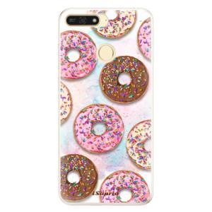 Silikonové pouzdro iSaprio (mléčně zakalené) Donutky Všude 11 na mobil Honor 7A