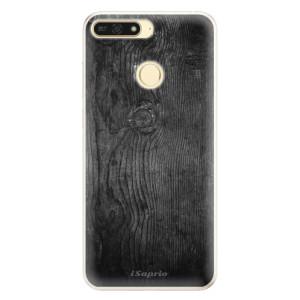 Silikonové pouzdro iSaprio (mléčně zakalené) Black Wood 13 na mobil Honor 7A