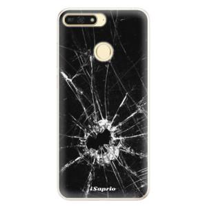 Silikonové pouzdro iSaprio (mléčně zakalené) Broken Glass 10 na mobil Honor 7A