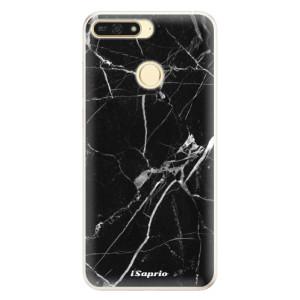 Silikonové pouzdro iSaprio (mléčně zakalené) Black Marble 18 na mobil Honor 7A