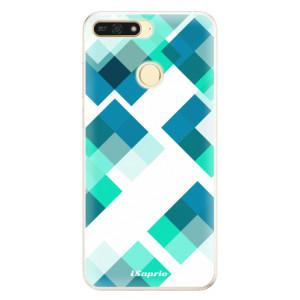Silikonové pouzdro iSaprio (mléčně zakalené) Abstract Squares 11 na mobil Honor 7A