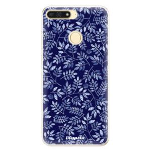 Silikonové pouzdro iSaprio (mléčně zakalené) Blue Leaves 05 na mobil Honor 7A