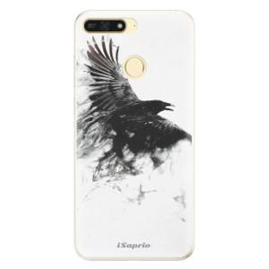 Silikonové pouzdro iSaprio (mléčně zakalené) Havran 01 na mobil Honor 7A