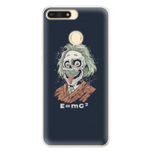 Silikonové pouzdro iSaprio (mléčně zakalené) Einstein 01 na mobil Honor 7A
