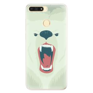 Silikonové pouzdro iSaprio (mléčně zakalené) Naštvanej Medvěd na mobil Honor 7A