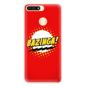 Silikonové pouzdro iSaprio (mléčně zakalené) Bazinga 01 na mobil Honor 7A