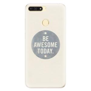 Silikonové pouzdro iSaprio (mléčně zakalené) Awesome 02 na mobil Honor 7A