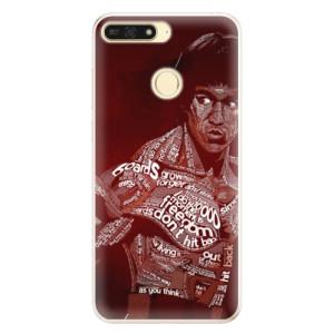 Silikonové pouzdro iSaprio (mléčně zakalené) Bruce Lee na mobil Honor 7A