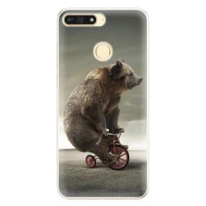 Silikonové pouzdro iSaprio (mléčně zakalené) Medvěd 01 na mobil Honor 7A