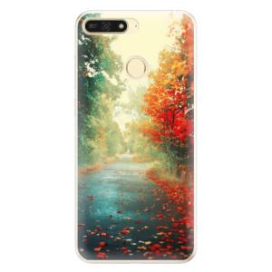 Silikonové pouzdro iSaprio (mléčně zakalené) Podzim 03 na mobil Honor 7A