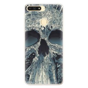 Silikonové pouzdro iSaprio (mléčně zakalené) Abstract Skull na mobil Honor 7A
