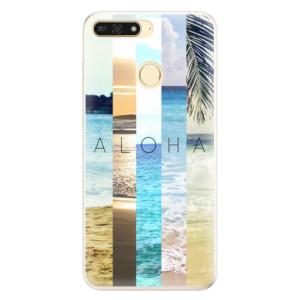 Silikonové pouzdro iSaprio (mléčně zakalené) Aloha 02 na mobil Honor 7A