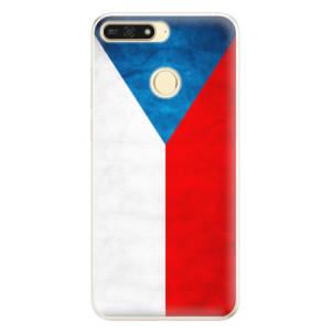 Silikonové pouzdro iSaprio (mléčně zakalené) Česká Vlajka na mobil Honor 7A