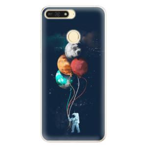 Silikonové pouzdro iSaprio (mléčně zakalené) Balónky 02 na mobil Honor 7A