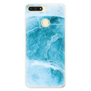Silikonové pouzdro iSaprio (mléčně zakalené) Blue Marble na mobil Honor 7A