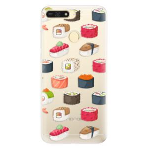 Silikonové pouzdro iSaprio (mléčně zakalené) Sushi na mobil Honor 7A