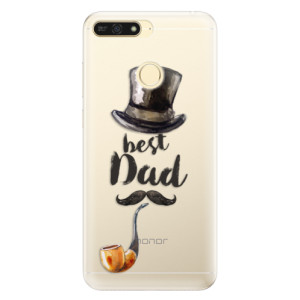 Silikonové pouzdro iSaprio (mléčně zakalené) Best Dad na mobil Honor 7A