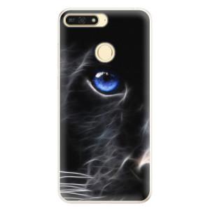 Silikonové pouzdro iSaprio (mléčně zakalené) Black Puma na mobil Honor 7A