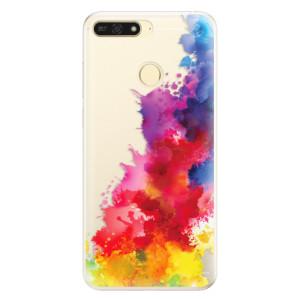 Silikonové pouzdro iSaprio (mléčně zakalené) Color Splash 01 na mobil Honor 7A