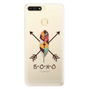 Silikonové pouzdro iSaprio (mléčně zakalené) BOHO na mobil Honor 7A