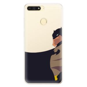 Silikonové pouzdro iSaprio (mléčně zakalené) BaT Komiks na mobil Honor 7A