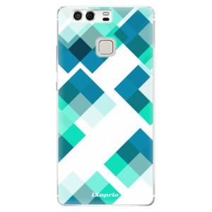 Silikonové pouzdro iSaprio (mléčně zakalené) Abstract Squares 11 na mobil Huawei P9