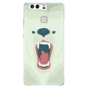 Silikonové pouzdro iSaprio (mléčně zakalené) Naštvanej Medvěd na mobil Huawei P9