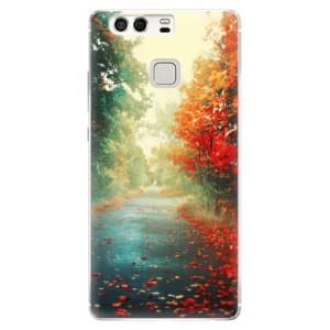 Silikonové pouzdro iSaprio (mléčně zakalené) Podzim 03 na mobil Huawei P9