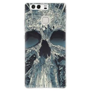 Silikonové pouzdro iSaprio (mléčně zakalené) Abstract Skull na mobil Huawei P9