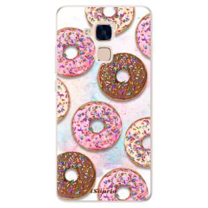 Silikonové pouzdro iSaprio (mléčně zakalené) Donutky Všude 11 na mobil Honor 7 Lite