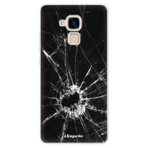 Silikonové pouzdro iSaprio (mléčně zakalené) Broken Glass 10 na mobil Honor 7 Lite