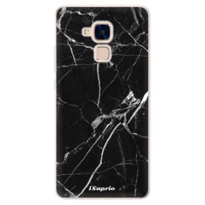 Silikonové pouzdro iSaprio (mléčně zakalené) Black Marble 18 na mobil Honor 7 Lite