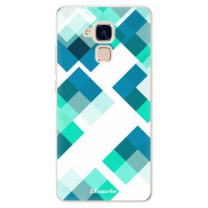 Silikonové pouzdro iSaprio (mléčně zakalené) Abstract Squares 11 na mobil Honor 7 Lite