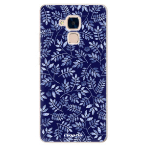 Silikonové pouzdro iSaprio (mléčně zakalené) Blue Leaves 05 na mobil Honor 7 Lite