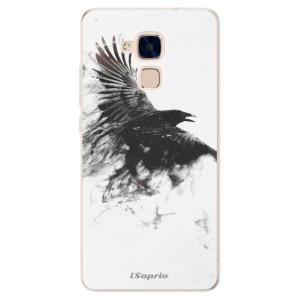 Silikonové pouzdro iSaprio (mléčně zakalené) Havran 01 na mobil Honor 7 Lite