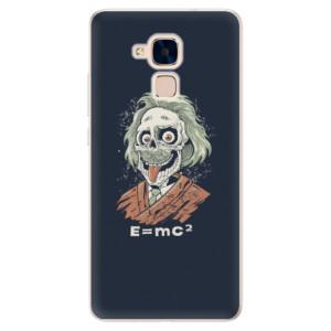 Silikonové pouzdro iSaprio (mléčně zakalené) Einstein 01 na mobil Honor 7 Lite