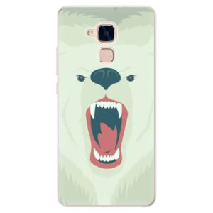 Silikonové pouzdro iSaprio (mléčně zakalené) Naštvanej Medvěd na mobil Honor 7 Lite