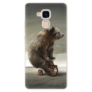 Silikonové pouzdro iSaprio (mléčně zakalené) Medvěd 01 na mobil Honor 7 Lite