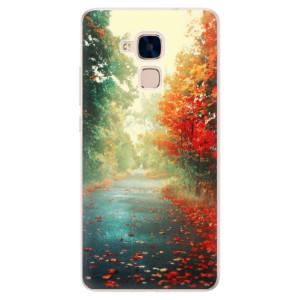 Silikonové pouzdro iSaprio (mléčně zakalené) Podzim 03 na mobil Honor 7 Lite