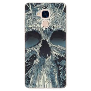 Silikonové pouzdro iSaprio (mléčně zakalené) Abstract Skull na mobil Honor 7 Lite