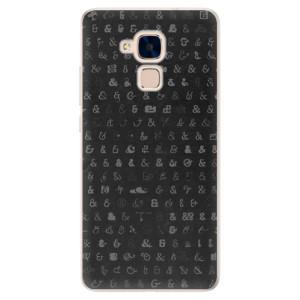 Silikonové pouzdro iSaprio (mléčně zakalené) Ampersand 01 na mobil Honor 7 Lite
