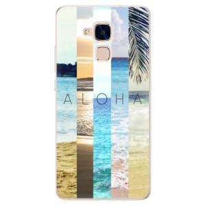 Silikonové pouzdro iSaprio (mléčně zakalené) Aloha 02 na mobil Honor 7 Lite