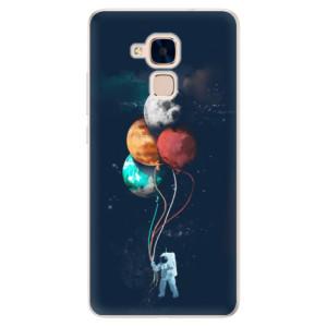 Silikonové pouzdro iSaprio (mléčně zakalené) Balónky 02 na mobil Honor 7 Lite