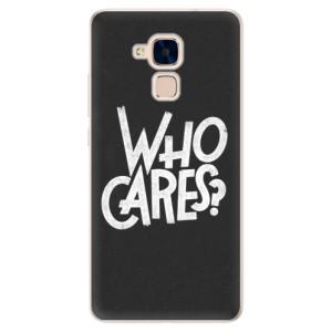 Silikonové pouzdro iSaprio (mléčně zakalené) Who Cares na mobil Honor 7 Lite