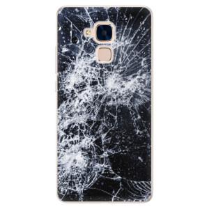 Silikonové pouzdro iSaprio (mléčně zakalené) Praskliny na mobil Honor 7 Lite