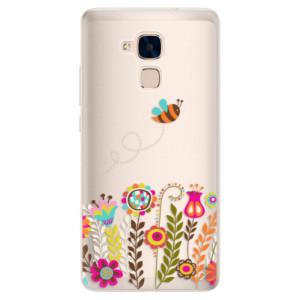 Silikonové pouzdro iSaprio (mléčně zakalené) Včelka Pája 01 na mobil Honor 7 Lite