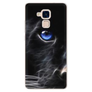 Silikonové pouzdro iSaprio (mléčně zakalené) Black Puma na mobil Honor 7 Lite