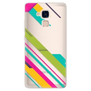 Silikonové pouzdro iSaprio (mléčně zakalené) Barevné Pruhy 03 na mobil Honor 7 Lite