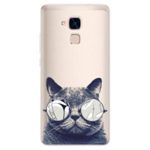 Silikonové pouzdro iSaprio (mléčně zakalené) Šílená Číča 01 na mobil Honor 7 Lite