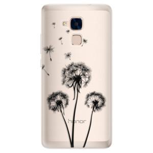 Silikonové pouzdro iSaprio (mléčně zakalené) Tři Černé Pampelišky na mobil Honor 7 Lite